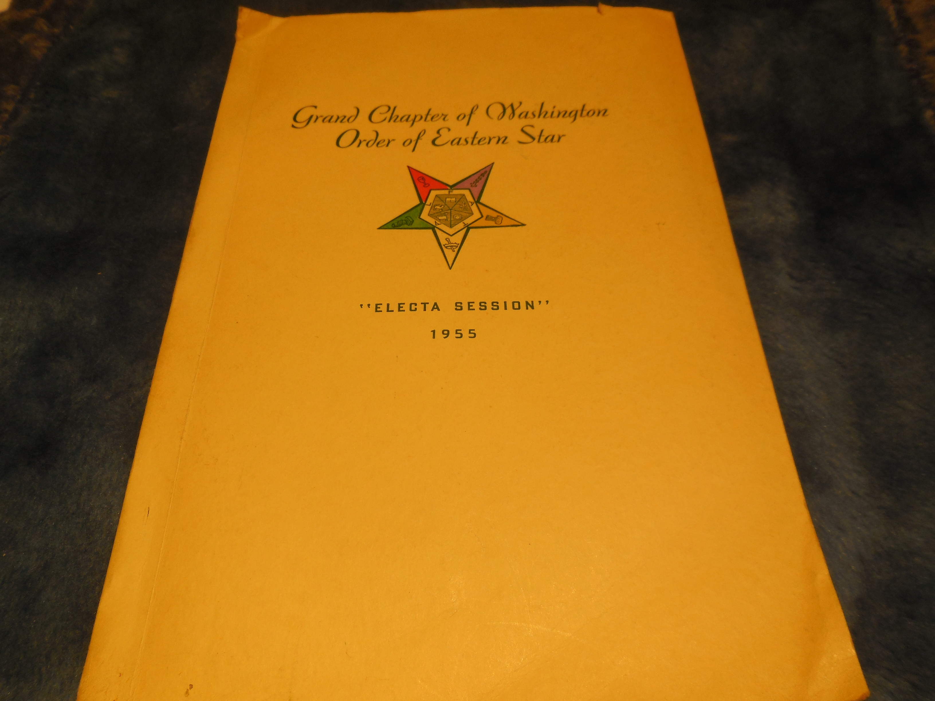 "Image for Proceedings of the Grand Chapter of Washington Order of the Eastern Star ""Electa Session"" 1955"