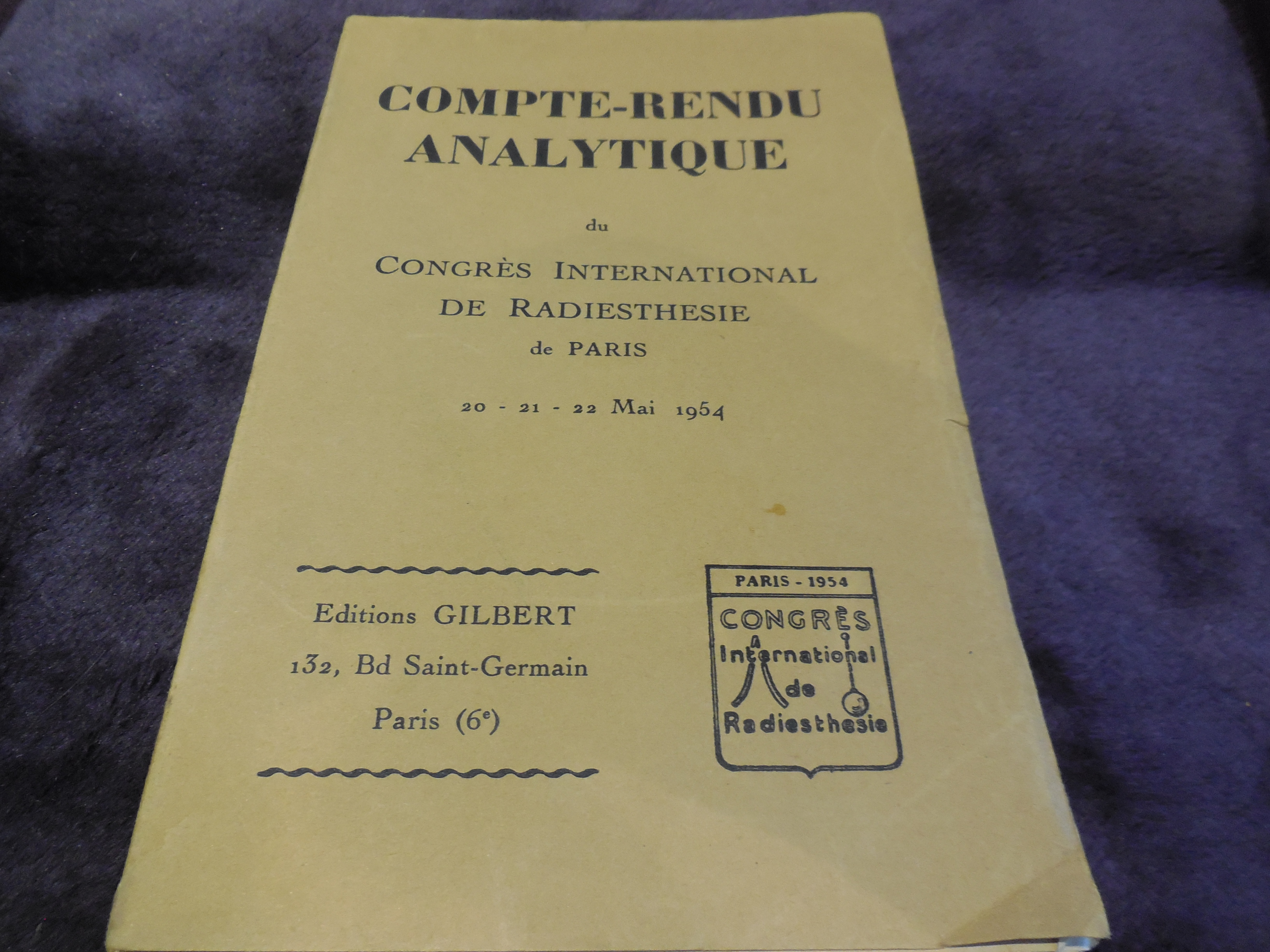 Image for Compte-rendu analytique du Congrès International de Radiestheéie de Paris