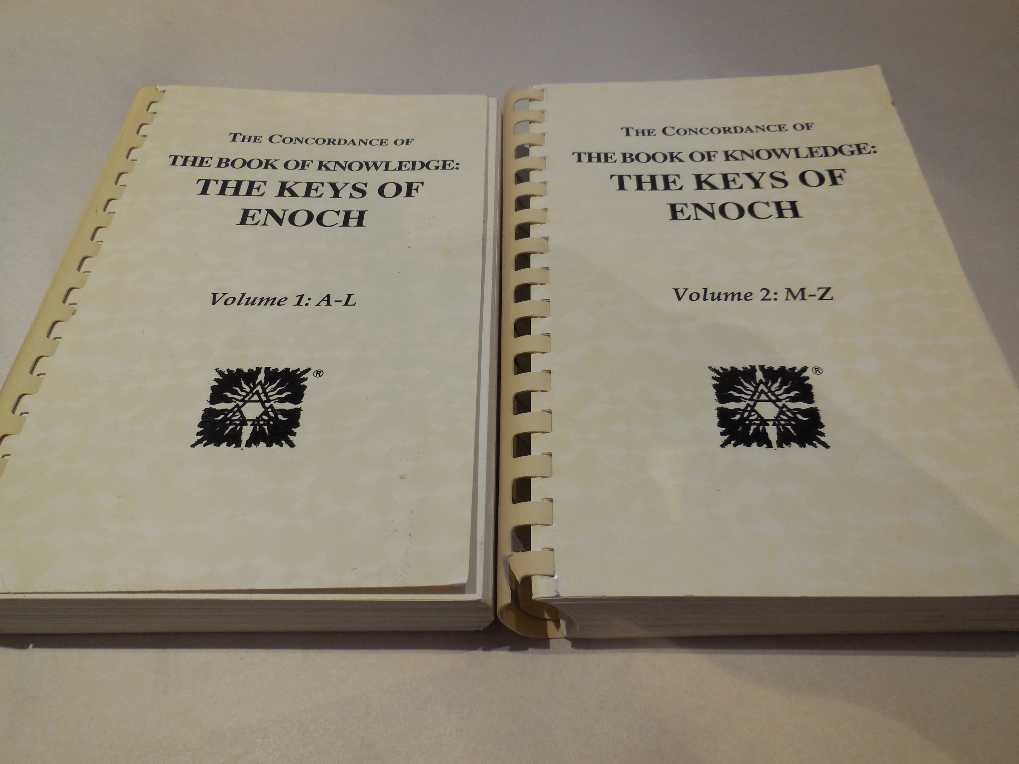 Image for The Concordance of the Book of Knowledge: The Keys of Enoch, Volume 1:A-L, Volume 2:M-Z (2 Volume Set)