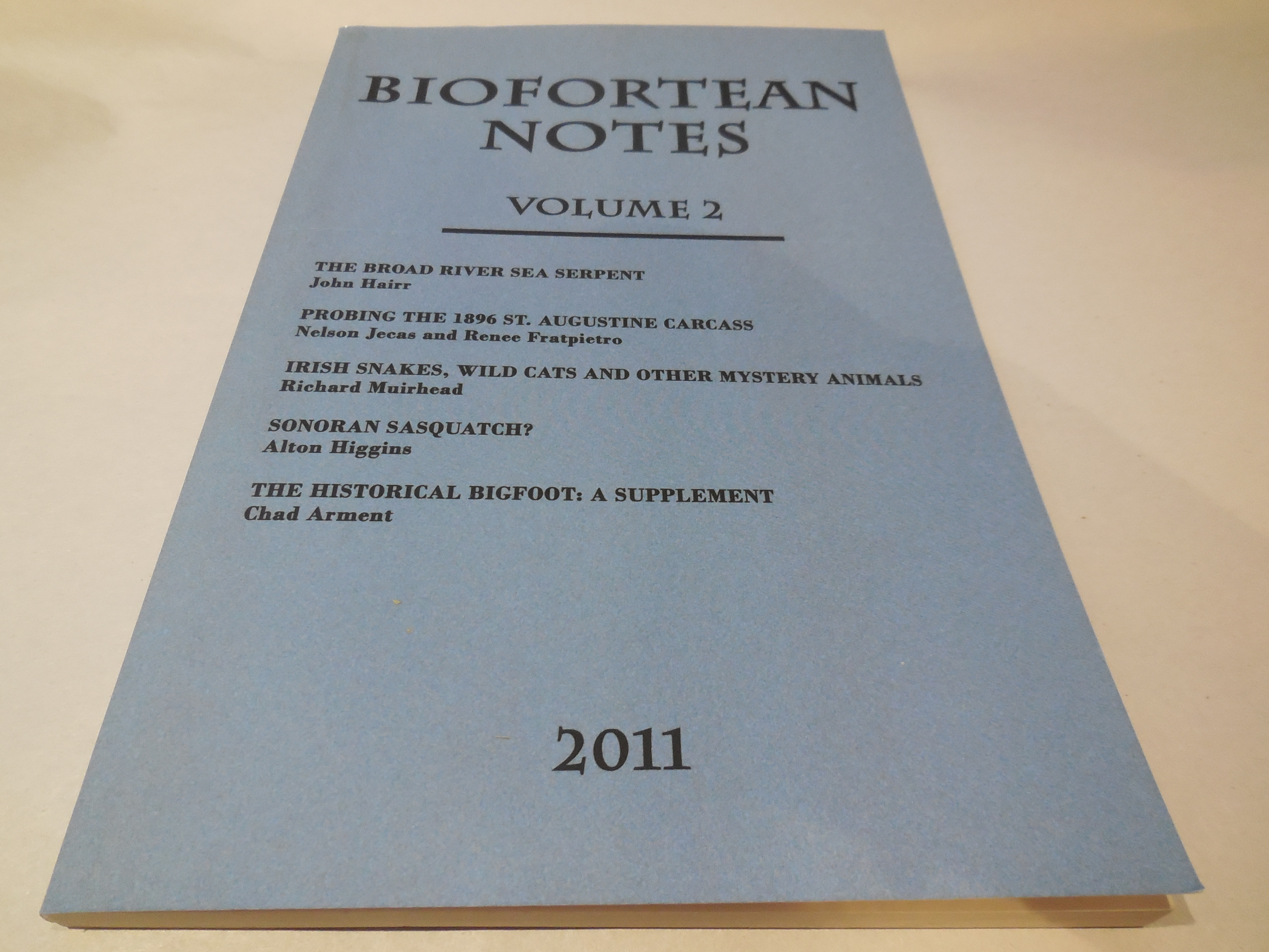 Image for BioFortean Notes: Volume 2