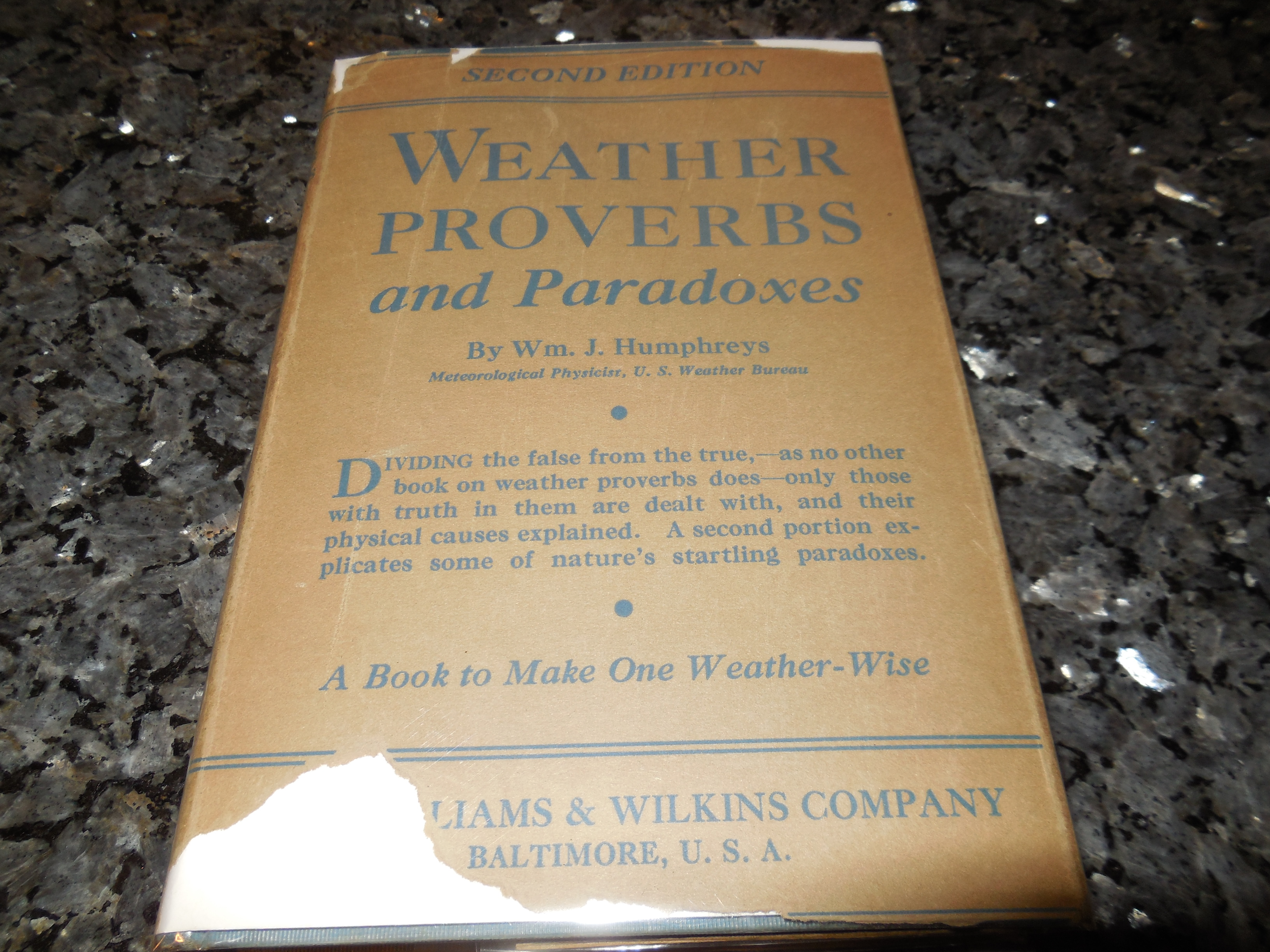 Image for Weather Proverbs and Paradoxes