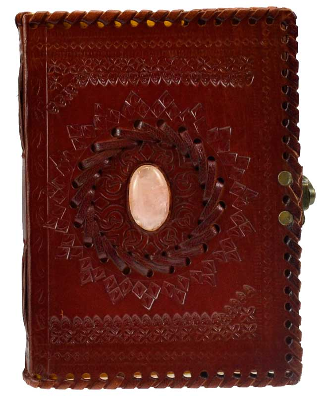 Image for Stone Embossed Blank Leather Journal