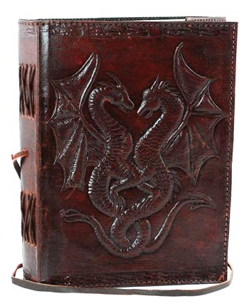 "Image for 5"" x 7"" Double Dragon Leather Blank Book"