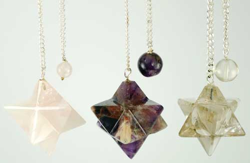 Image for Assorted Gemstone Flower Pendulum